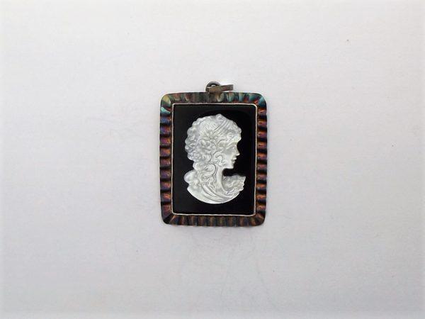 Wisior srebro i kamea pr925