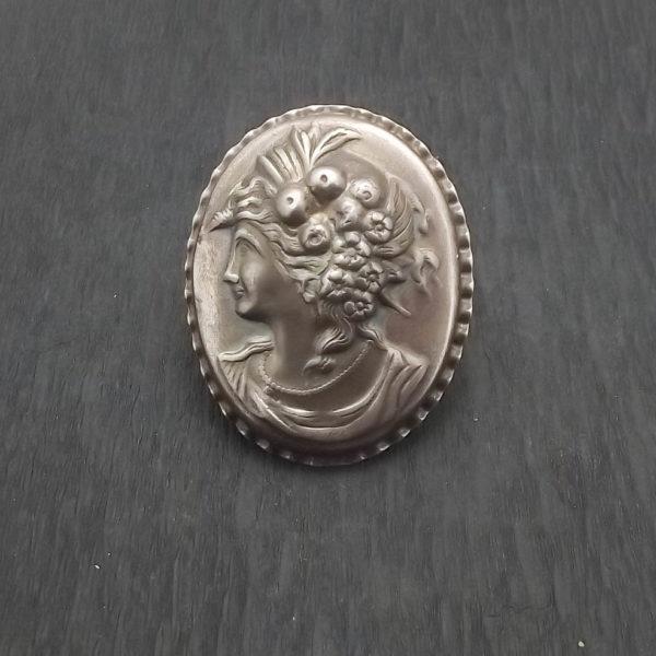 Wisior i broszka srebro i kamea pr925
