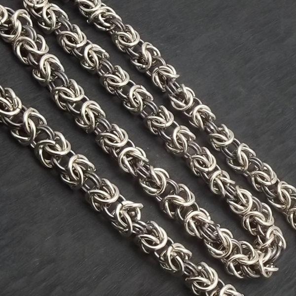 Łańcuch srebro  pr925 splot królewski długość 47cm
