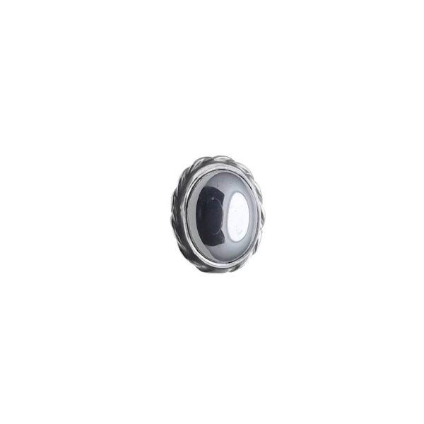 Pierścionek srebro i hematyt rozmiar 15
