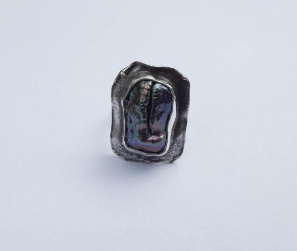 Pierścionek srebro i perła rozmiar21