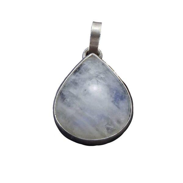 Wisior srebro i kamień księżycowy pr925