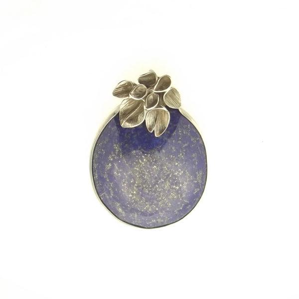 Wisior srebro i lapis lazuli  pr925