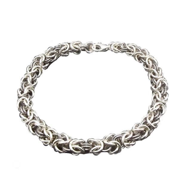 Bransoleta srebrna splot królewski 21,5cm
