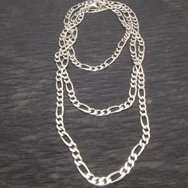 Łańcuch figaro srebro długość 70 cm