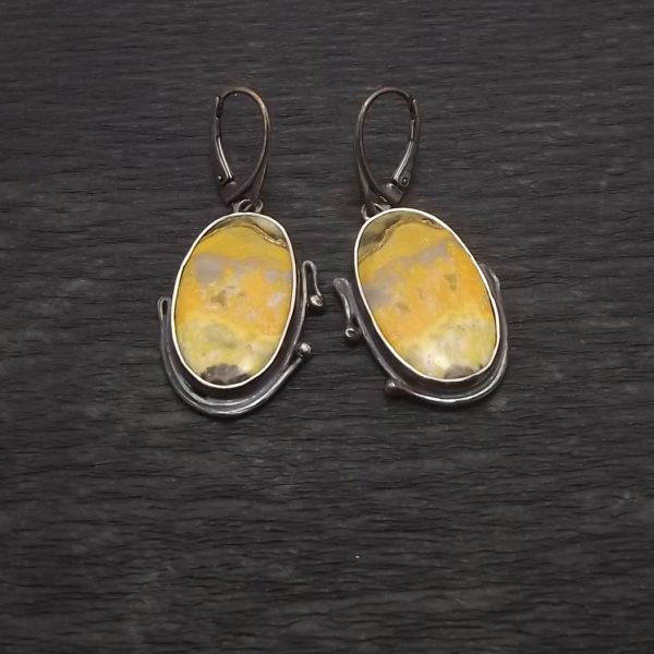 Kolczyki srebro i jaspis pr925