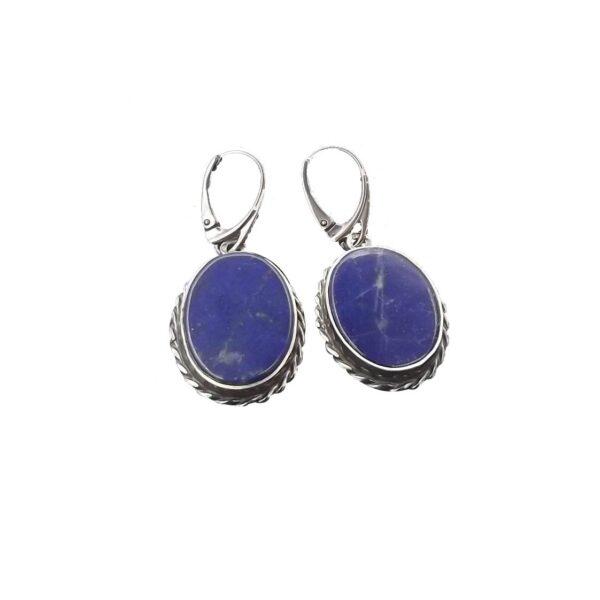 Kolczyki srebro i lapis lazuli pr925