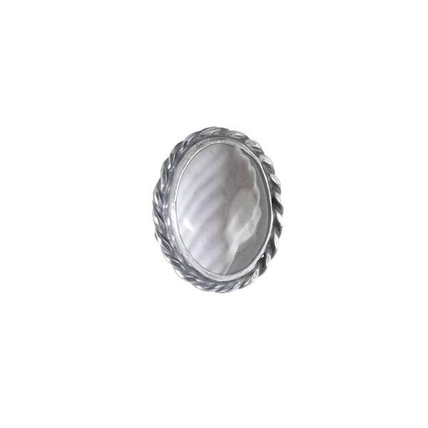 Pierścionek srebro i krzemień pasiasty rozmiar 15