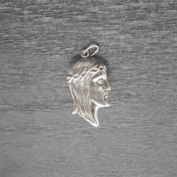 Medalik Jezus Chrystus srebro pr925