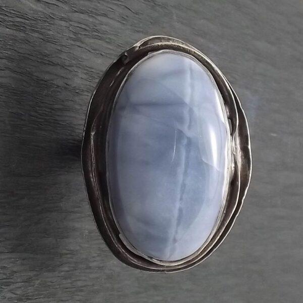 Pierścionek srebro i opal rozmiar 22