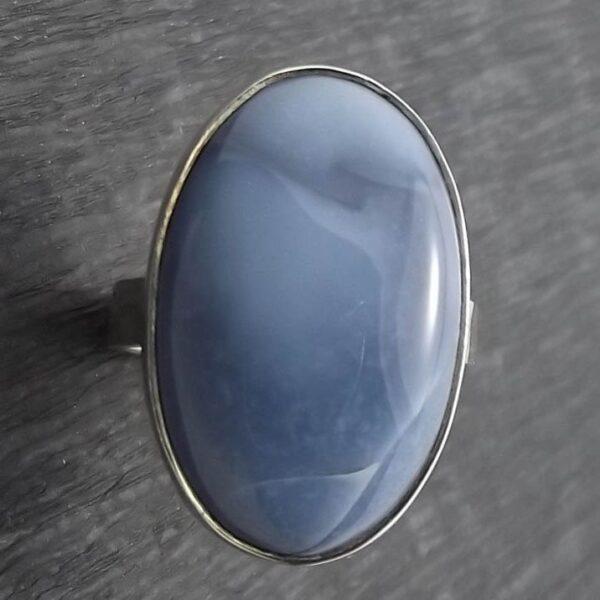 Pierścionek srebro i opal rozmiar 21