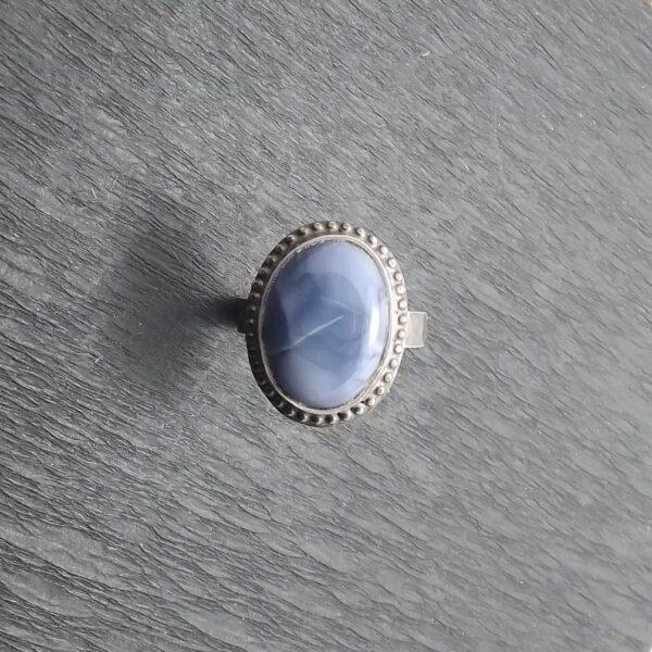 Pierścionek srebro i opal rozmiar 17