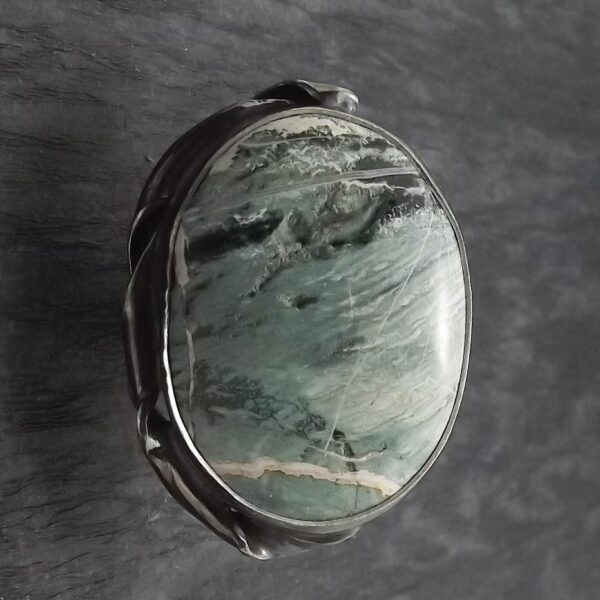 Pierścionek srebro i opal rozmiar 19