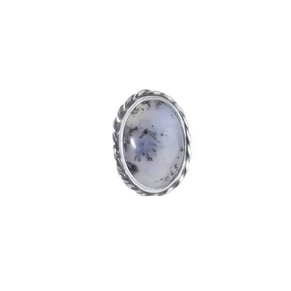 Pierścionek srebro i agat rozmiar16