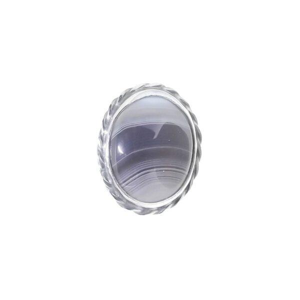 Pierścionek srebro i agat rozmiar17